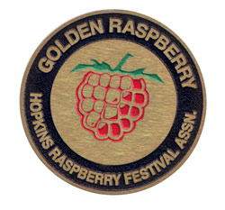 Golden Raspberry Medallion